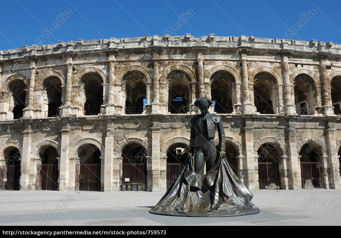 roman, arena, in, nimes, france - 759573