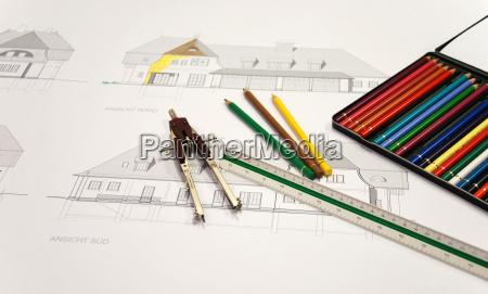 colorful, bauzeichnung - 760425
