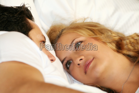 couple, in, bed - 761729