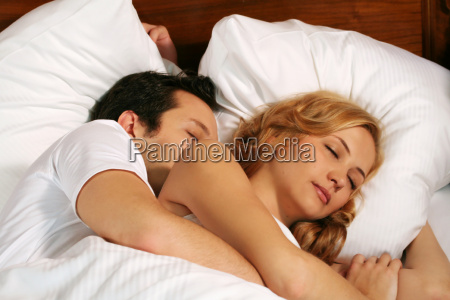 couple, in, bed - 761755