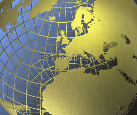 europe, on, globe - 761267