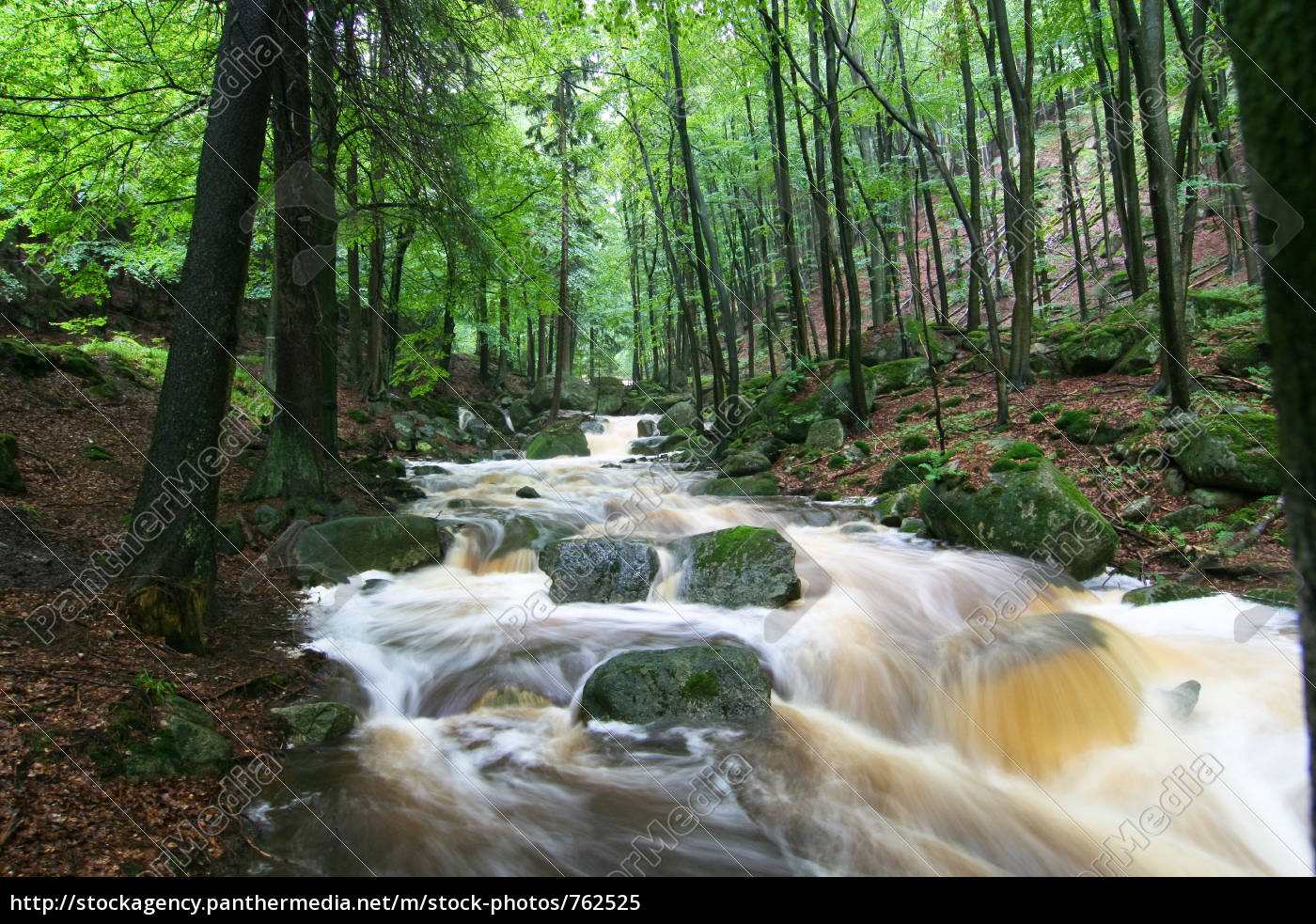 mountain, stream, in, flood - 762525