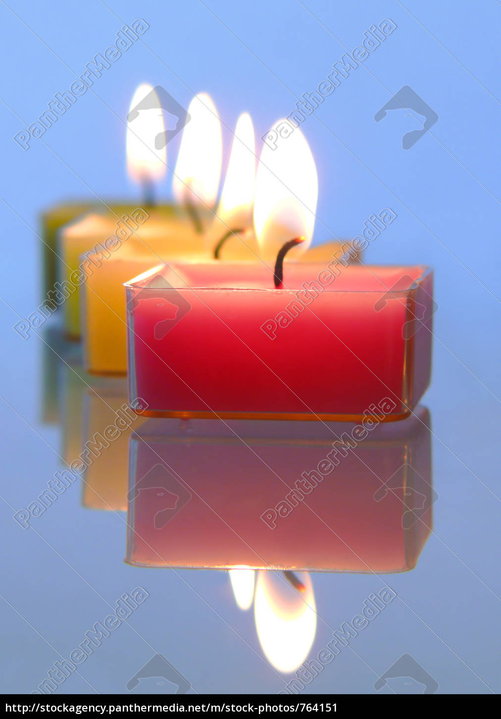 burning, candles - 764151