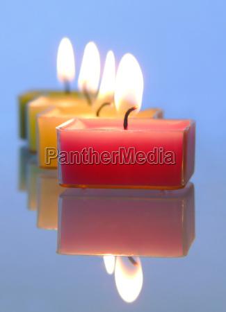burning, candles - 764151