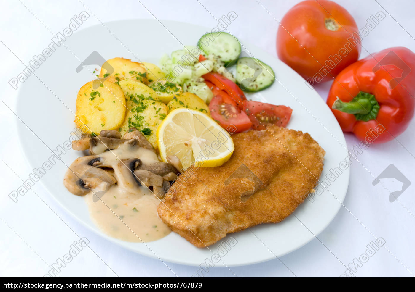 breaded, cutlet, with, salad, 9 - 767879