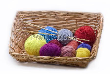 knitting, basket, 01 - 774059