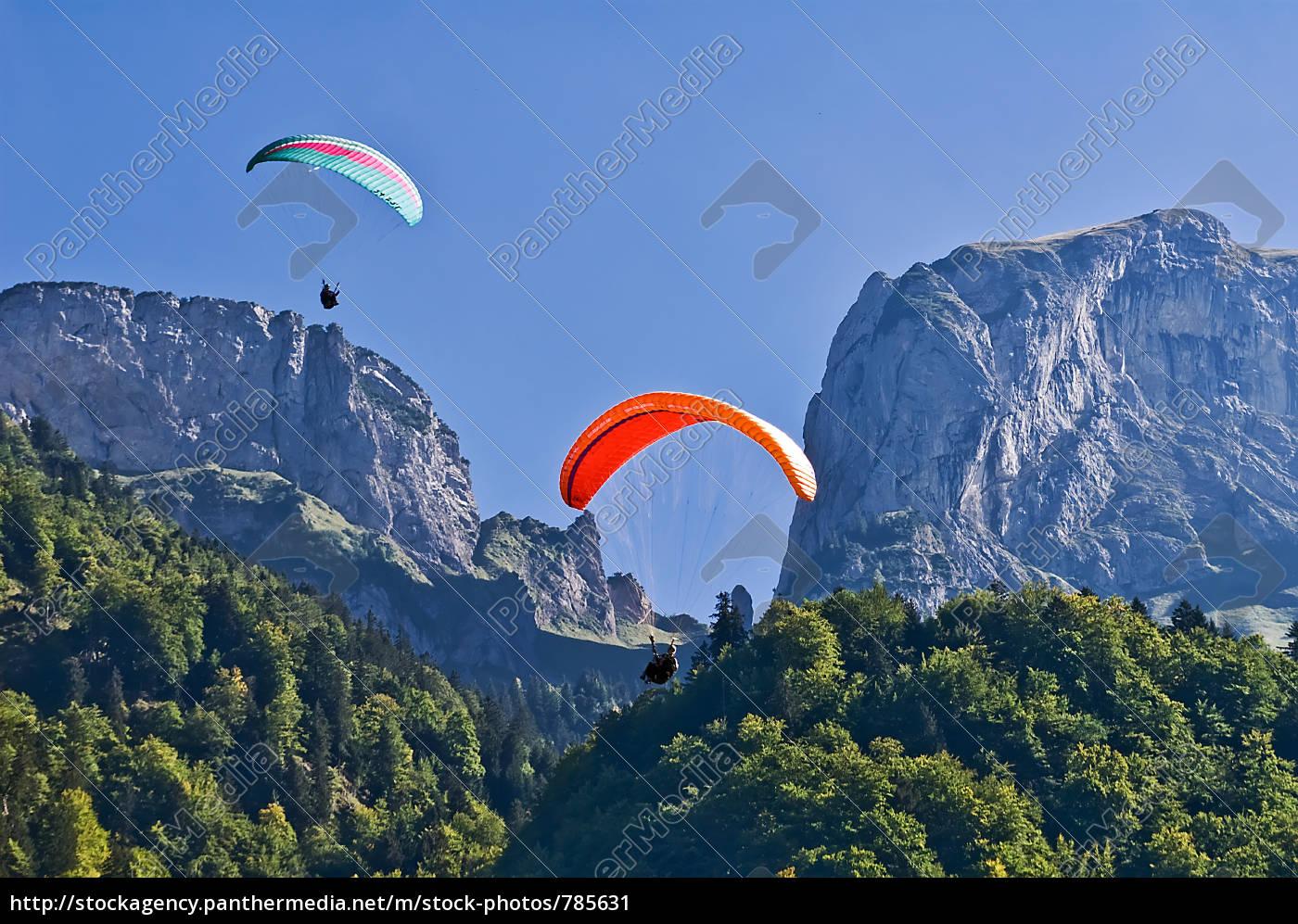 paragliding, on, alp, sigel - 785631