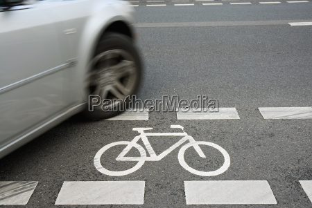 bicycle, stripes, with, silver, car - 805605