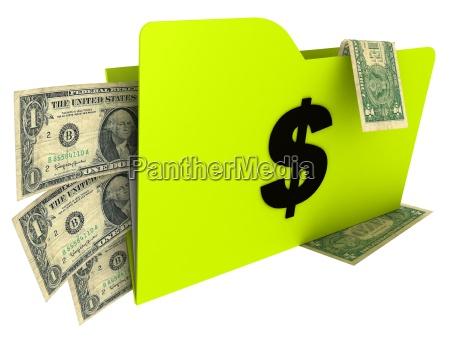 portfolio, with, money - 811599