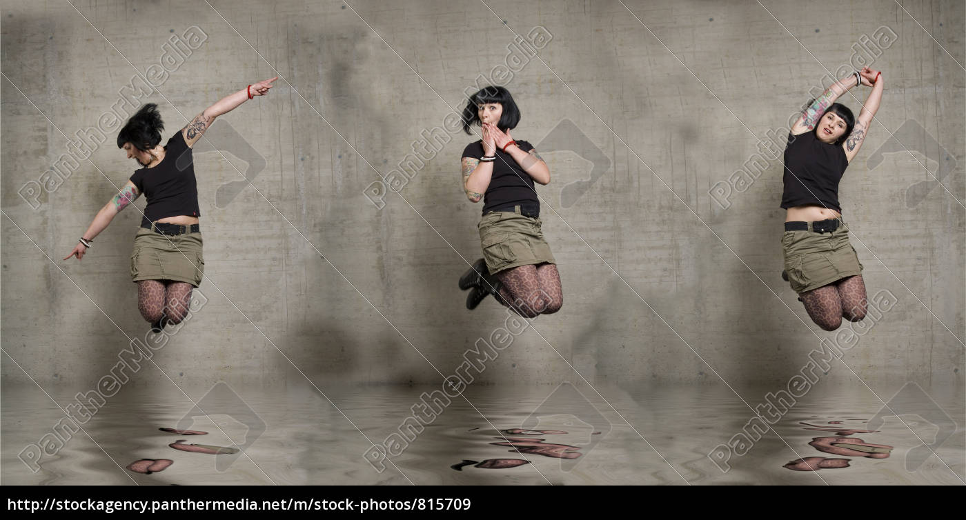 jumping, woman - 815709