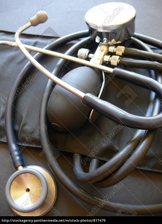 blood, pressure, cuff, and, stethoscope - 817479