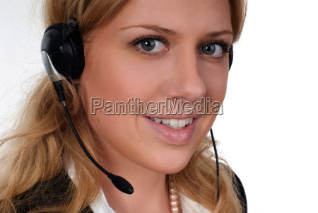 young, woman, with, headset - 819459
