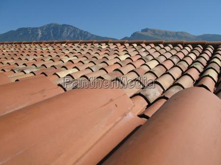 ladrillo italiano azulejo techo de tejas