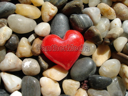 red, heart, stone, on, stones - 871881