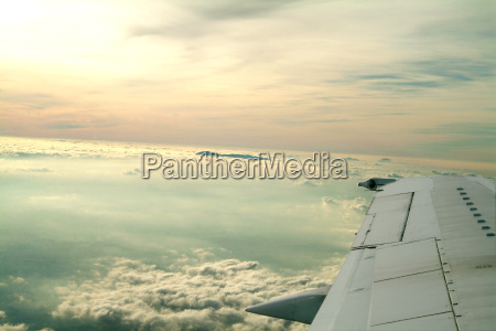 airplane wing sky
