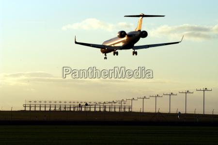flyer on runway