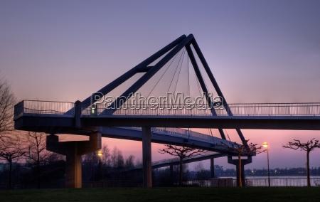 harbor bridge in duesseldorf