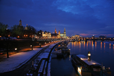 winter evening in dresden