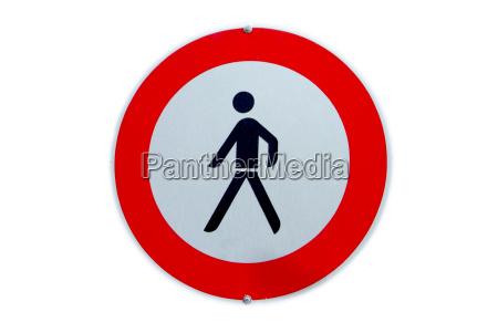 ban on pedestrians