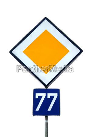 road sign road priority