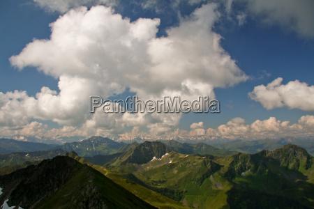 clouds over kitzbuehel alps