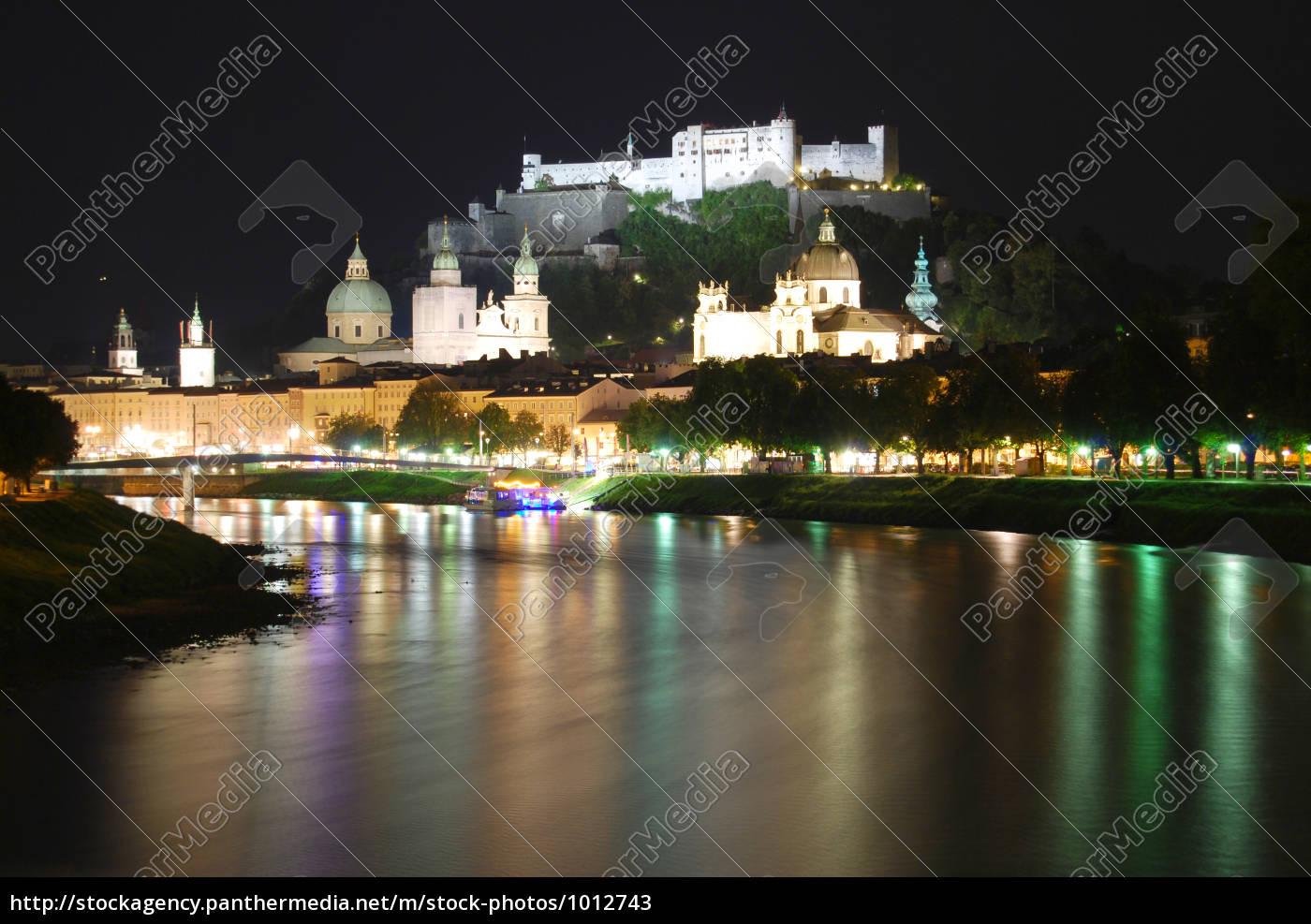 salzburg, at, night - 1012743