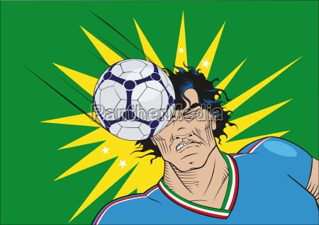 italfussballspieler by the head