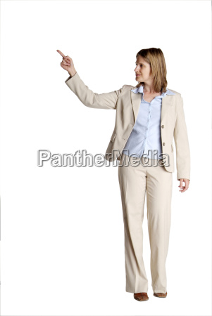 standing woman shows