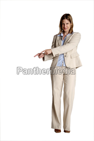 standing, woman, pointing - 1033267