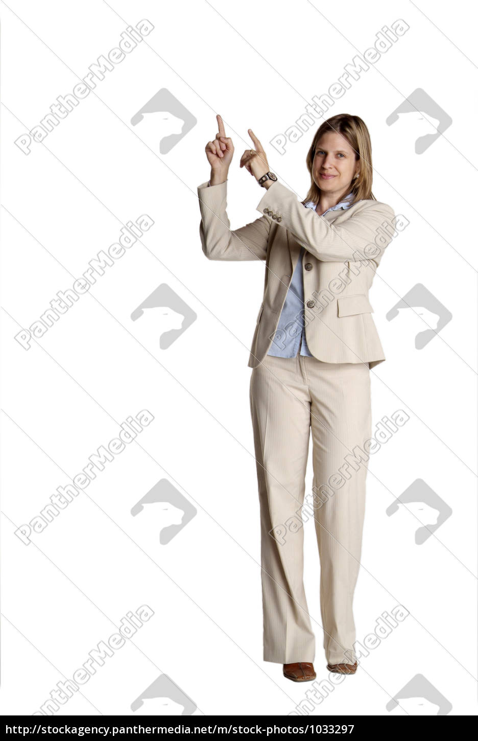 standing, woman, pointing - 1033297