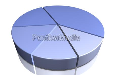 kreisdiagramm in blau
