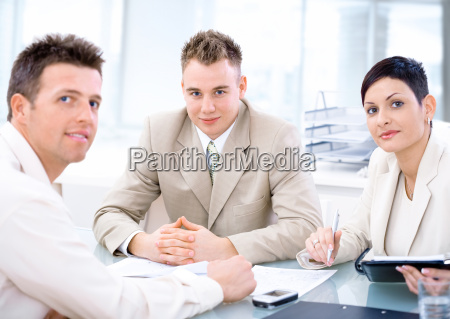 business people working at office