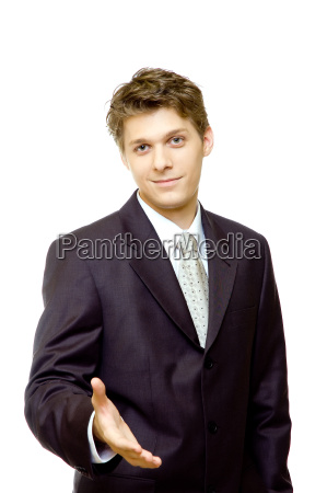 young, businessman, waiting, for, handshake - 1102509