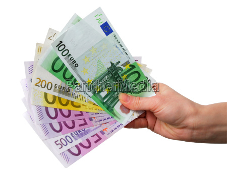 hand, with, euro, notes - 1121441