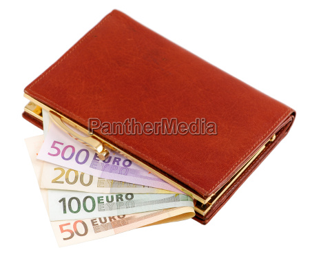 wallet, with, euro, notes - 1132201