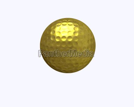 pelota de golf dorada