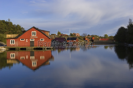 fishing village in the swedish archipelago