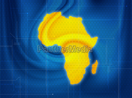 africa map techno