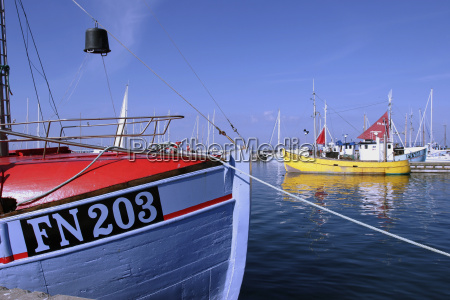 harbor with fishing boats