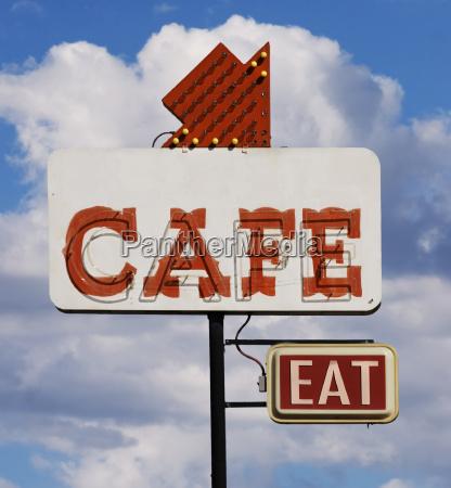 cafe eat sign