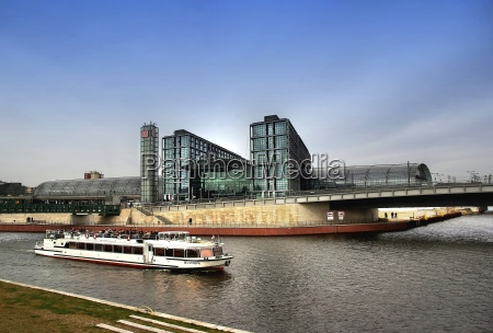 berlin central station on the river