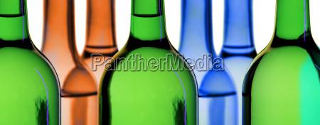 bottles in backlight