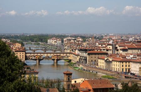cityscape florence with ponte vecchio