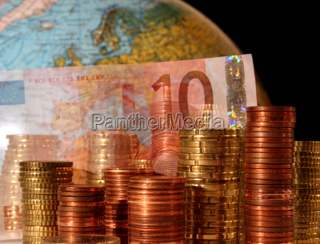 euro bill and before europe on