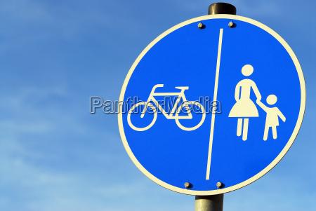 pedestrians and bike paths