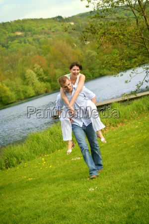 happy, couple, on, a, meadow - 1241785
