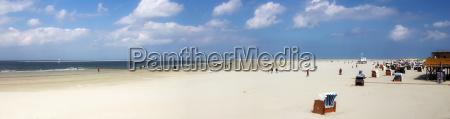 borkum beach panorama