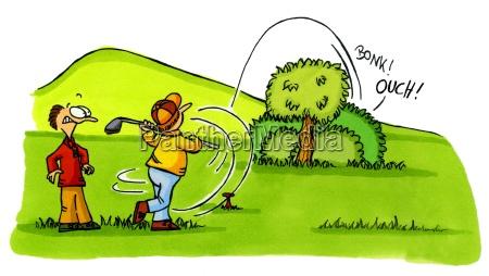 golf cartoons no 2 on