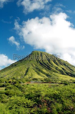 green mountain in hawaii