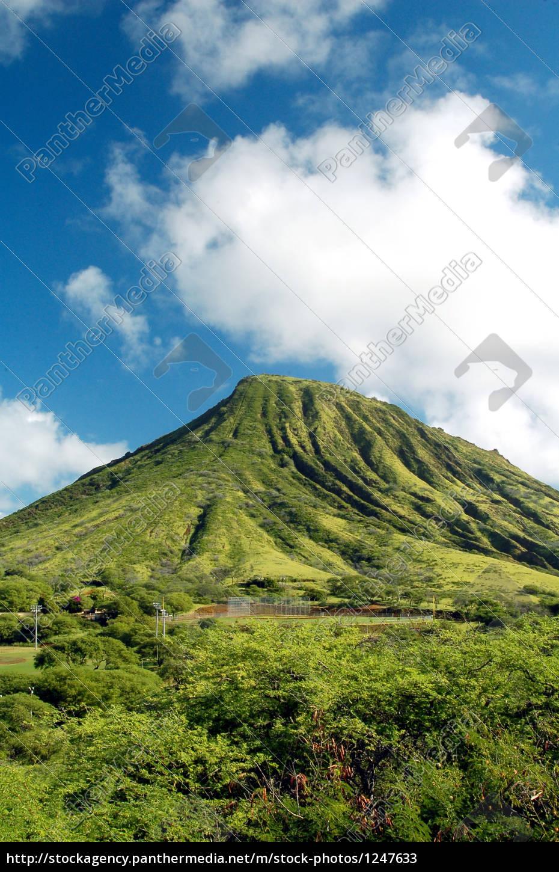 green, mountain, in, hawaii - 1247633